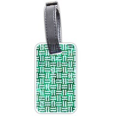 Woven1 White Marble & Green Marble Luggage Tags (two Sides)