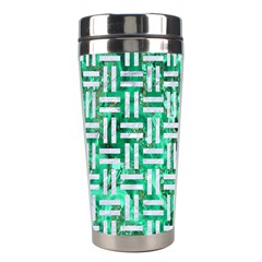 Woven1 White Marble & Green Marble Stainless Steel Travel Tumblers