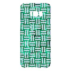 Woven1 White Marble & Green Marble Samsung Galaxy S8 Plus Hardshell Case