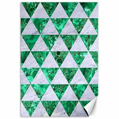 Triangle3 White Marble & Green Marble Canvas 20  X 30