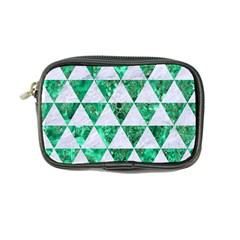 Triangle3 White Marble & Green Marble Coin Purse