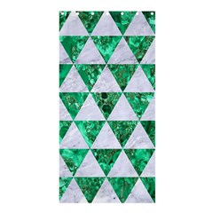 Triangle3 White Marble & Green Marble Shower Curtain 36  X 72  (stall)