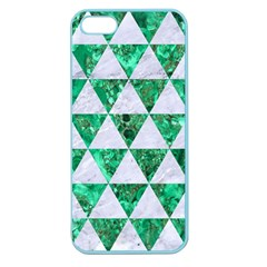 Triangle3 White Marble & Green Marble Apple Seamless Iphone 5 Case (color)