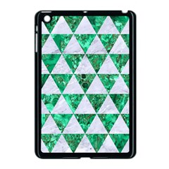 Triangle3 White Marble & Green Marble Apple Ipad Mini Case (black)