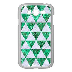 Triangle3 White Marble & Green Marble Samsung Galaxy Grand Duos I9082 Case (white)