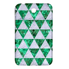 Triangle3 White Marble & Green Marble Samsung Galaxy Tab 3 (7 ) P3200 Hardshell Case
