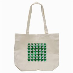 Triangle2 White Marble & Green Marble Tote Bag (cream)