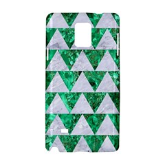 Triangle2 White Marble & Green Marble Samsung Galaxy Note 4 Hardshell Case