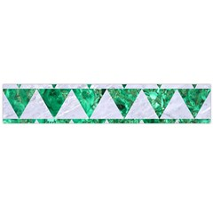 Triangle2 White Marble & Green Marble Large Flano Scarf