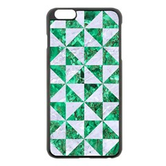Triangle1 White Marble & Green Marble Apple Iphone 6 Plus/6s Plus Black Enamel Case by trendistuff