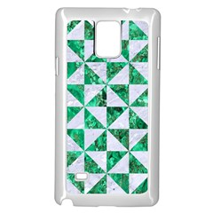 Triangle1 White Marble & Green Marble Samsung Galaxy Note 4 Case (white)