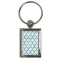 Tile1 (r) White Marble & Green Marble Key Chains (rectangle)