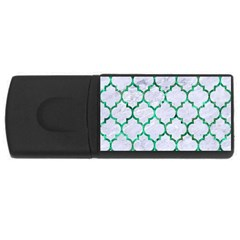 Tile1 (r) White Marble & Green Marble Rectangular Usb Flash Drive