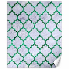 Tile1 (r) White Marble & Green Marble Canvas 16  X 20