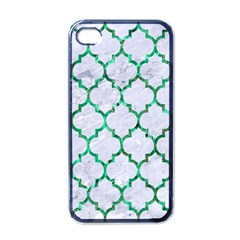 Tile1 (r) White Marble & Green Marble Apple Iphone 4 Case (black)