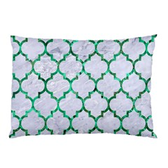 Tile1 (r) White Marble & Green Marble Pillow Case (two Sides)
