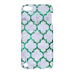 Tile1 (r) White Marble & Green Marble Apple Ipod Touch 5 Hardshell Case
