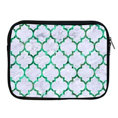 Tile1 (r) White Marble & Green Marble Apple Ipad 2/3/4 Zipper Cases