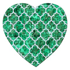 Tile1 White Marble & Green Marble Jigsaw Puzzle (heart) by trendistuff