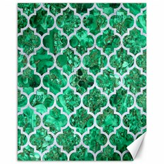 Tile1 White Marble & Green Marble Canvas 16  X 20