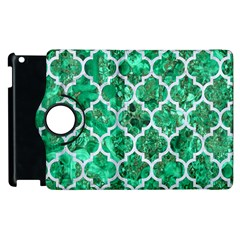 Tile1 White Marble & Green Marble Apple Ipad 3/4 Flip 360 Case