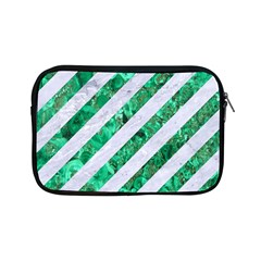 Stripes3 White Marble & Green Marble (r) Apple Ipad Mini Zipper Cases