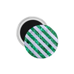 Stripes3 White Marble & Green Marble 1 75  Magnets