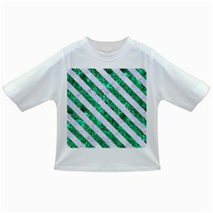 Stripes3 White Marble & Green Marble Infant/toddler T Shirts