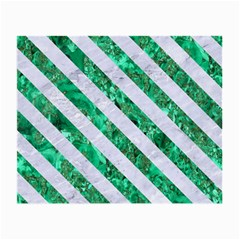 Stripes3 White Marble & Green Marble Small Glasses Cloth (2 Side)