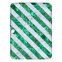 Stripes3 White Marble & Green Marble Samsung Galaxy Tab 3 (10 1 ) P5200 Hardshell Case