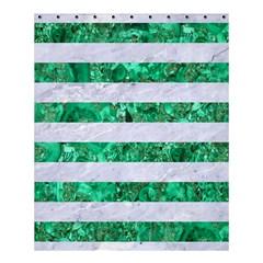 Stripes2 White Marble & Green Marble Shower Curtain 60  X 72  (medium)
