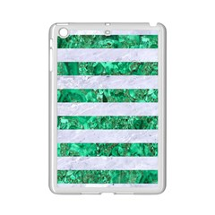 Stripes2 White Marble & Green Marble Ipad Mini 2 Enamel Coated Cases
