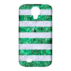 Stripes2 White Marble & Green Marble Samsung Galaxy S4 Classic Hardshell Case (pc+silicone) by trendistuff