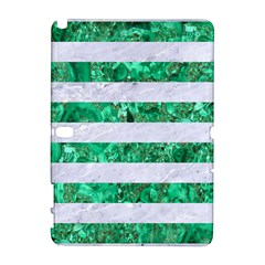 Stripes2 White Marble & Green Marble Samsung Galaxy Note 10 1 (p600) Hardshell Case