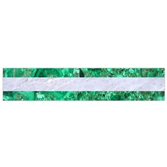 Stripes2 White Marble & Green Marble Small Flano Scarf