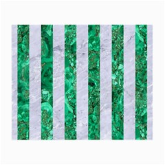 Stripes1 White Marble & Green Marble Small Glasses Cloth