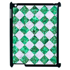 Square2 White Marble & Green Marble Apple Ipad 2 Case (black)