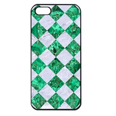 Square2 White Marble & Green Marble Apple Iphone 5 Seamless Case (black)