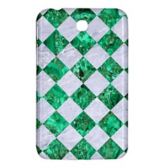 Square2 White Marble & Green Marble Samsung Galaxy Tab 3 (7 ) P3200 Hardshell Case