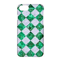 Square2 White Marble & Green Marble Apple Iphone 8 Hardshell Case