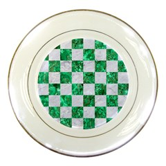 Square1 White Marble & Green Marble Porcelain Plates