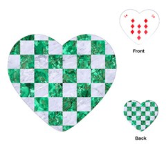 Square1 White Marble & Green Marble Playing Cards (heart)