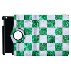 Square1 White Marble & Green Marble Apple Ipad 2 Flip 360 Case by trendistuff