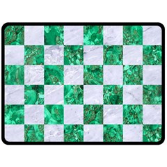 Square1 White Marble & Green Marble Double Sided Fleece Blanket (large)