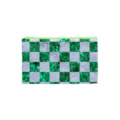 Square1 White Marble & Green Marble Cosmetic Bag (xs)