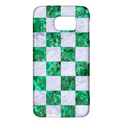 Square1 White Marble & Green Marble Samsung Galaxy S6 Hardshell Case