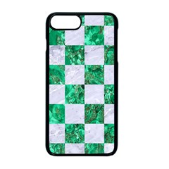 Square1 White Marble & Green Marble Apple Iphone 7 Plus Seamless Case (black)