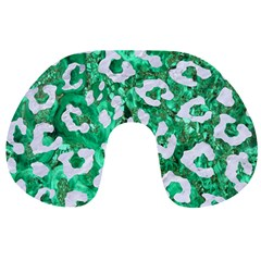 Skin5 White Marble & Green Marble (r) Travel Neck Pillows