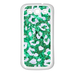Skin5 White Marble & Green Marble (r) Samsung Galaxy S3 Back Case (white)