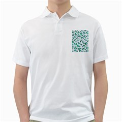 Skin5 White Marble & Green Marble Golf Shirts